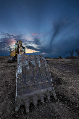 Blending Photograph - Excavator 2 by Aaron J Groen
