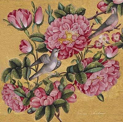 Excotic Camellias Original by Enzie Shahmiri