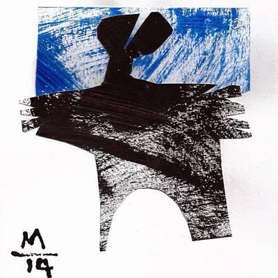 Abstract Shapes Mixed Media - Execo No. 2  by Mark M  Mellon