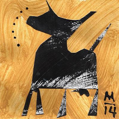 Cows Mixed Media - Execo No. 7  by Mark M  Mellon