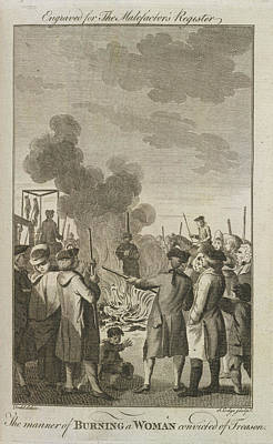 Execution By Burning Print by British Library
