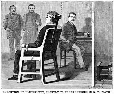 Execution By Electric Chair Print by Universal History Archive/uig