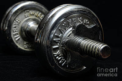 Exercise  Vintage Chrome Weights Print by Paul Ward