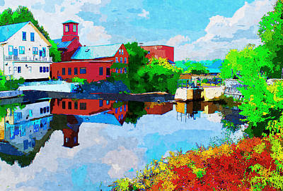 Exeter Watercolor Print by Rick Mosher