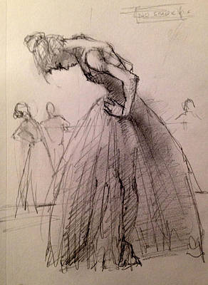 Tutus Drawing - Exhaustion by H James Hoff