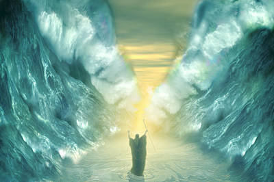 Old Testament Digital Art - Exodus by Carol and Mike Werner