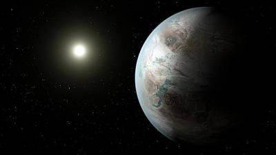 Extrasolar Planet Photograph - Exoplanet Kepler-452b by Nasa/ames/jpl-caltech
