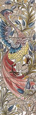 Tapestries - Textiles Tapestry - Textile - Exotic Birds Pattern by Philip Ralley