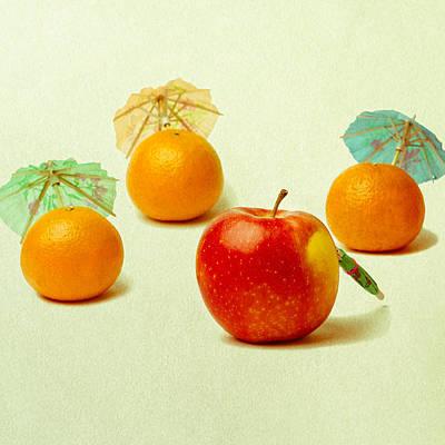 Exotic Fruit - Square Print by Alexander Senin