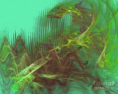 Liander Art Digital Art - Expanding 4 by Jeanne Liander