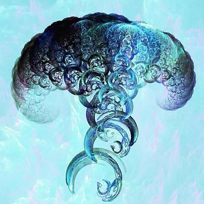 Mushroom Mixed Media - Expanding by Anastasiya Malakhova