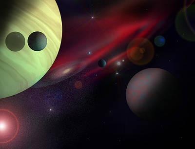 Solar Eclipse Digital Art - Expansion by Ricky Haug