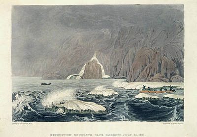 Expedition Doubling Cape Barrow Print by British Library