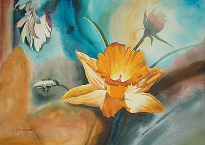 Exploding Floral Print by John Norman Stewart