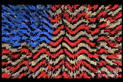 Times Square Digital Art - Exploding With Patriotism by John Farnan