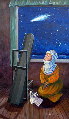Explorer Of Stars - Caroline Herschel Print by Janelle Schneider
