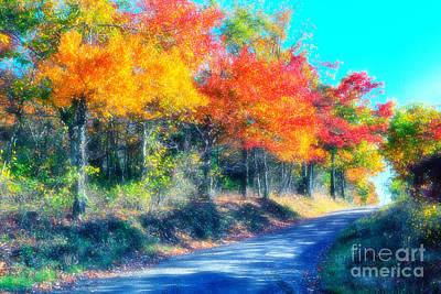 Country Dirt Roads Digital Art - Explosion Of Color - Blue Ridge Mountains I by Dan Carmichael