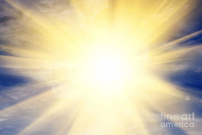 Imagine Photograph - Explosion Of Light Towards Heaven by Michal Bednarek