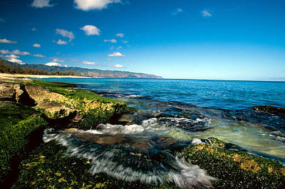 Tidal Photograph - Exposed Reef And Tidal Surge North Shore Oahu Hawaii by Anonymous