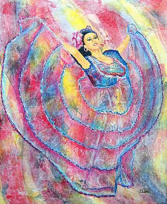 Expressing Her Passion Print by Susan DeLain