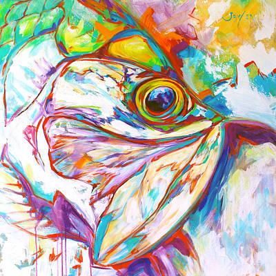 Expressionist Tarpon Portrait Original by Savlen Art