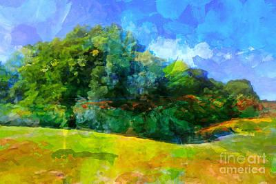 Impressionism Digital Art - Expressive Landscape by Lutz Baar