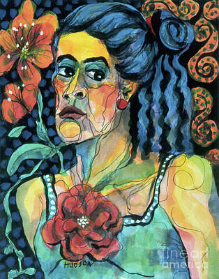 expressive portraits of women - The Faded Rose Original by Sharon Hudson