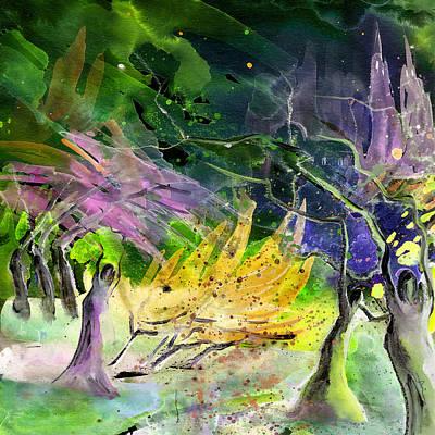 Fantasy Tree Art Painting - Expulsion by Miki De Goodaboom