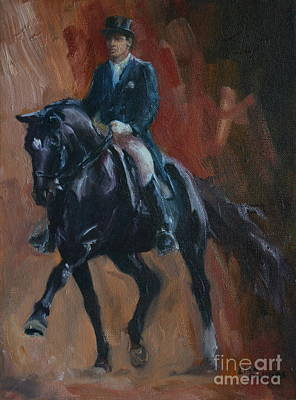 Farm Animals Painting - Extended Trot by Lisa Phillips Owens