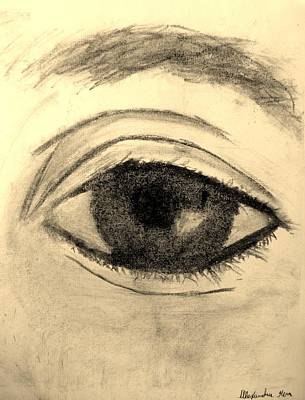 Eyelash Drawing - Eye by Alexandra Herr