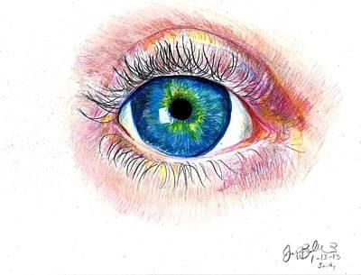 Eye Ball Print by Jon Baldwin  Art