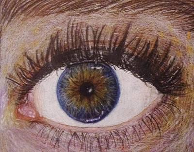 Eyelash Drawing - Eye Drawing by Savanna Paine
