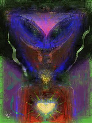 Aliens Mixed Media - Eye Heart Aliens by Russell Pierce