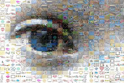 Eye Mosaic Print by Delphimages Photo Creations