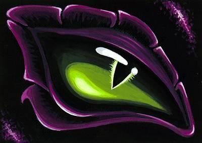 Dragon Painting - Eye Of Ena by Elaina  Wagner
