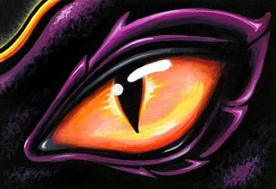 Dragon Painting - Eye Of Sun Aura by Elaina  Wagner