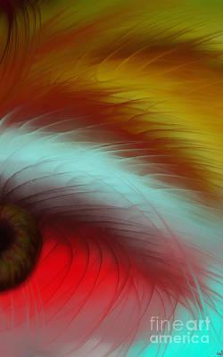 Eye Of The Beast Print by Anita Lewis