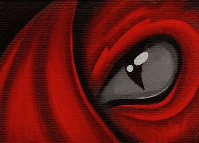 Eye Of The Scarlett Hatching Original by Elaina  Wagner