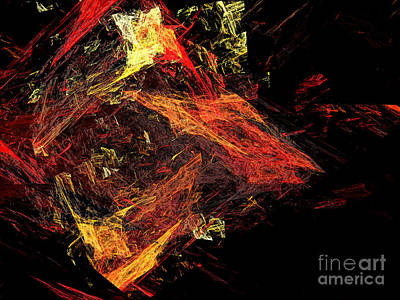 Eye Of The Storm 3 - Mass Chaos - Abstract - Fractal Art Print by Andee Design