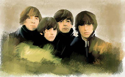 Nj Drawing - Eye Of The Storm The Beatles by Iconic Images Art Gallery David Pucciarelli