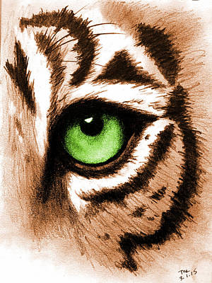Eye Of The Tiger Print by Michelle Eshleman