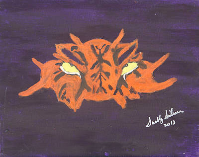 Eye Of The Tiger Print by Swabby Soileau