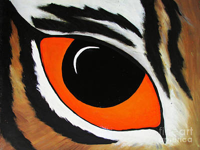 Eye Of The Tiger  Print by TheKingofIdeas TKOI