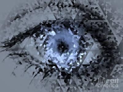 Eye See Blue Print by Elizabeth McTaggart