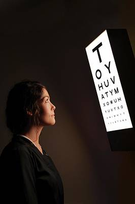 Optometry Photograph - Eye Test Chart by Mcs