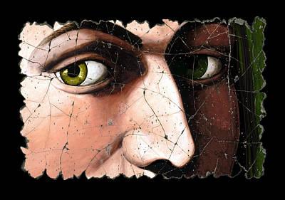 Eyes Of Bindo Altoviti Print by Steve Bogdanoff