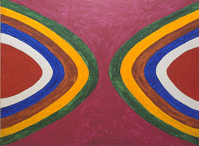 Abstract Shapes Painting - Eyes Of Amen Ra by Stormm Bradshaw
