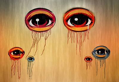 Eyes Print by Steven  Michael