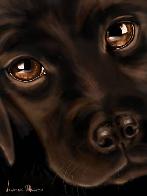 Black Dog Digital Art - Eyes by Veronica Minozzi
