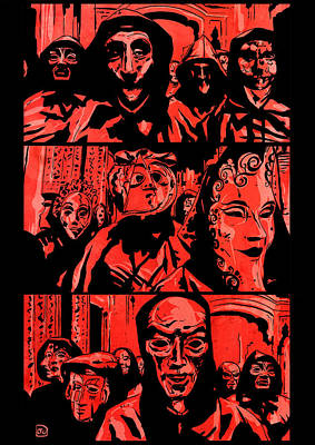 Eyes Wide Shut 2 Print by Giuseppe Cristiano